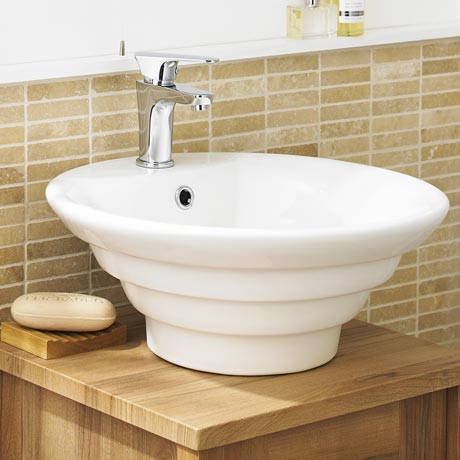 Ultra Round Ceramic Counter Top Basin - NBV006