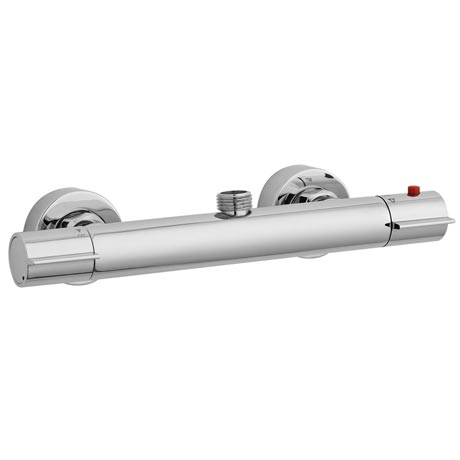 Ultra - Slimline Round Thermostatic Bar Valve - Top Outlet - Chrome - VBS019