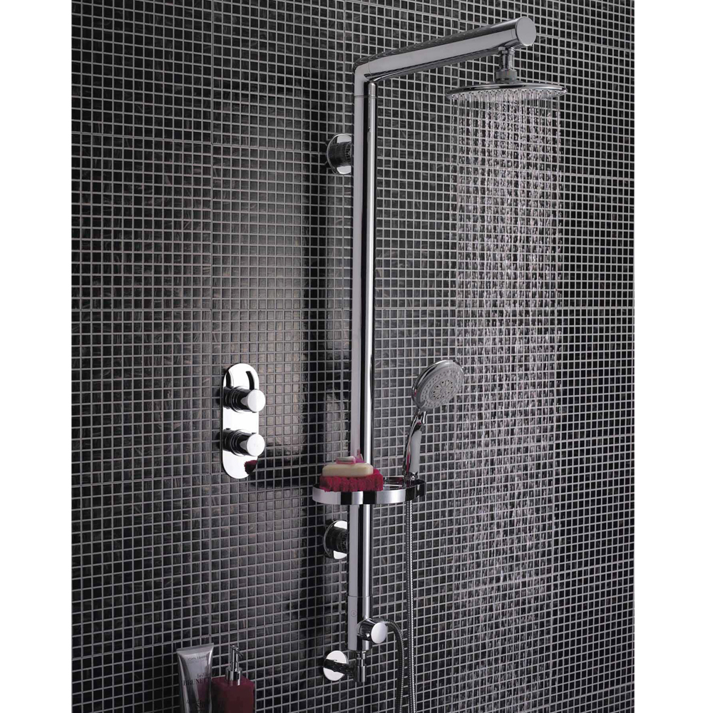 Ultra Syndicate Rigid Riser Shower Kit with Diverter - A3317 Profile Large Image