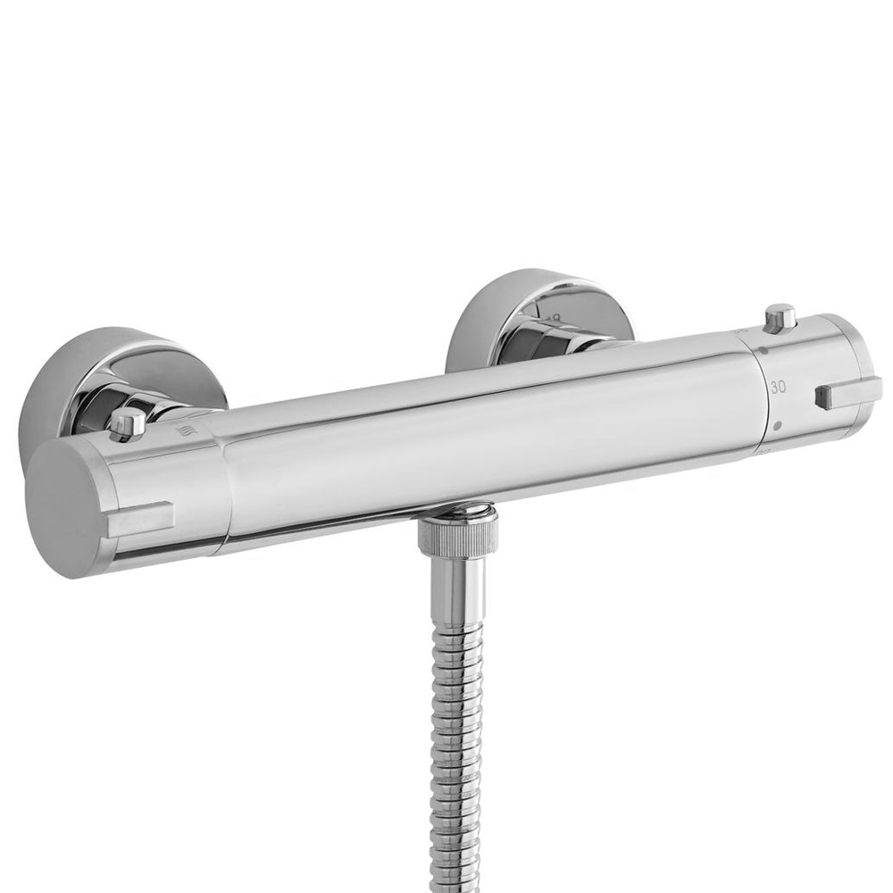 Ultra TMV2 Minimalist Thermostatic Bar Shower Valve - Bottom Outlet - VBS009 Large Image