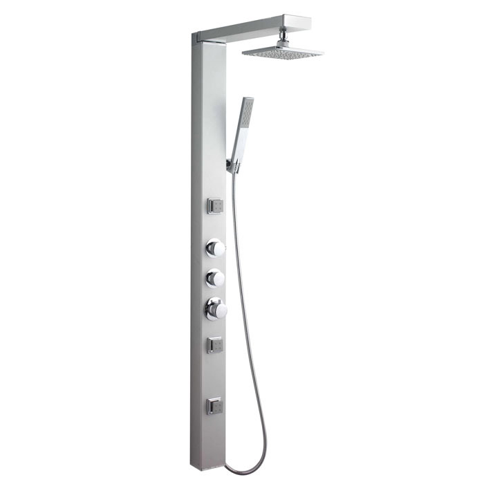 Ultra Thermostatic Shower Panel w/ Shower Spray & Body Jets - AS391 Large Image