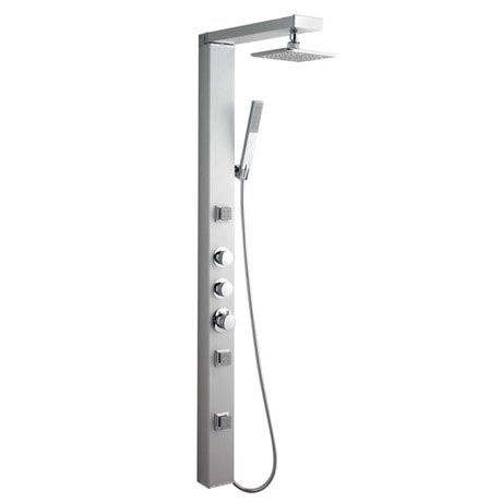 Ultra Thermostatic Shower Panel w/ Shower Spray & Body Jets - AS391