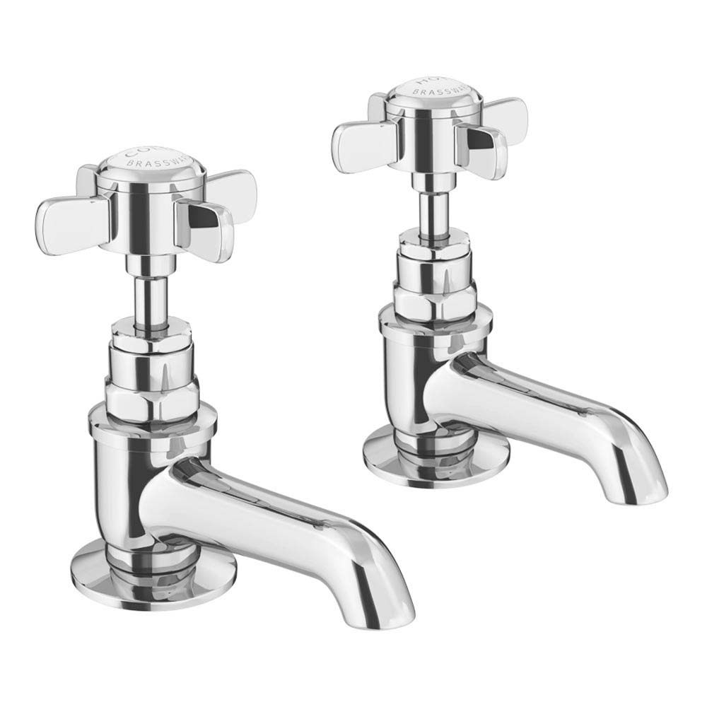 Ultra Traditional Beaumont Long Nose Basin Taps - Chrome - I321XE profile large image view 1