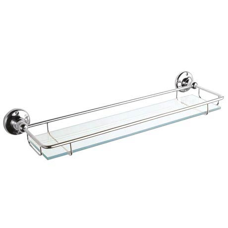 Ultra Traditional Chrome Glass Gallery Shelf - LH305