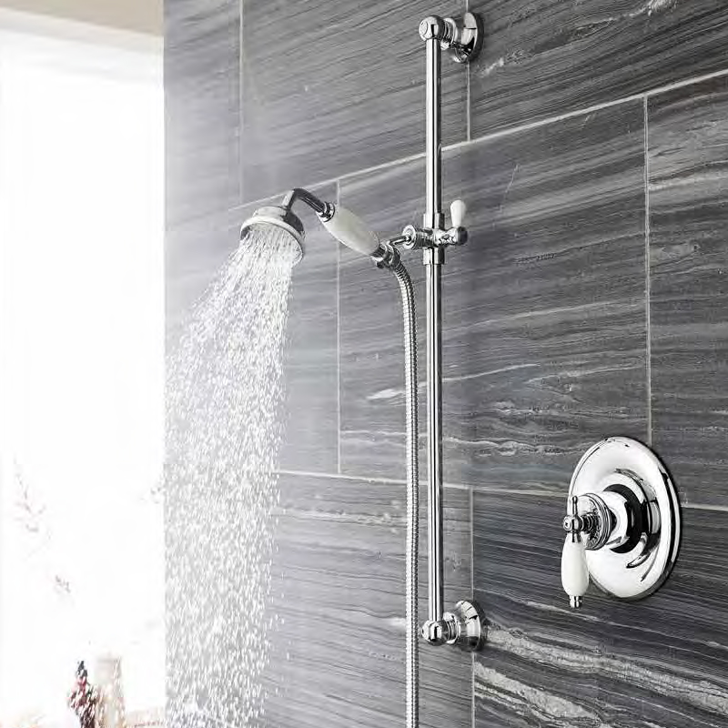 Ultra Traditional Concealed Thermostatic Sequential Shower Valve profile large image view 2