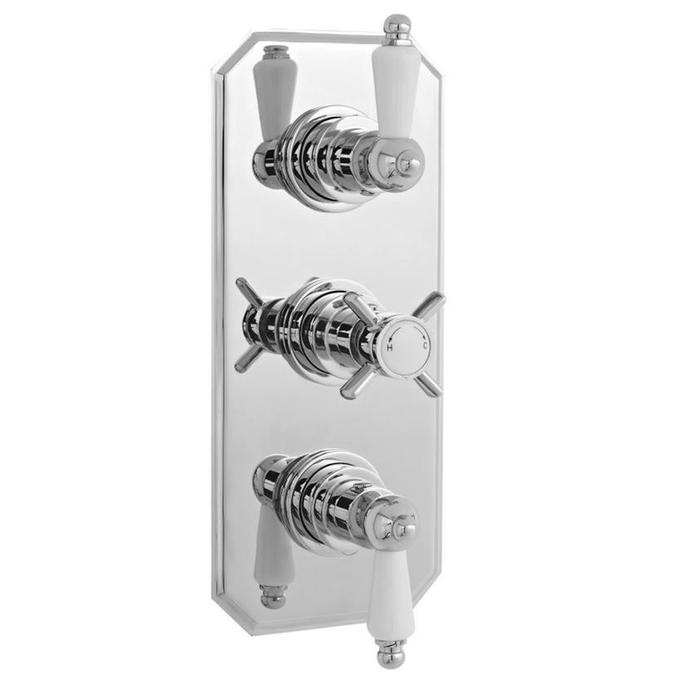 Ultra Traditional Concealed Thermostatic Triple Shower Valve - A3057 Large Image