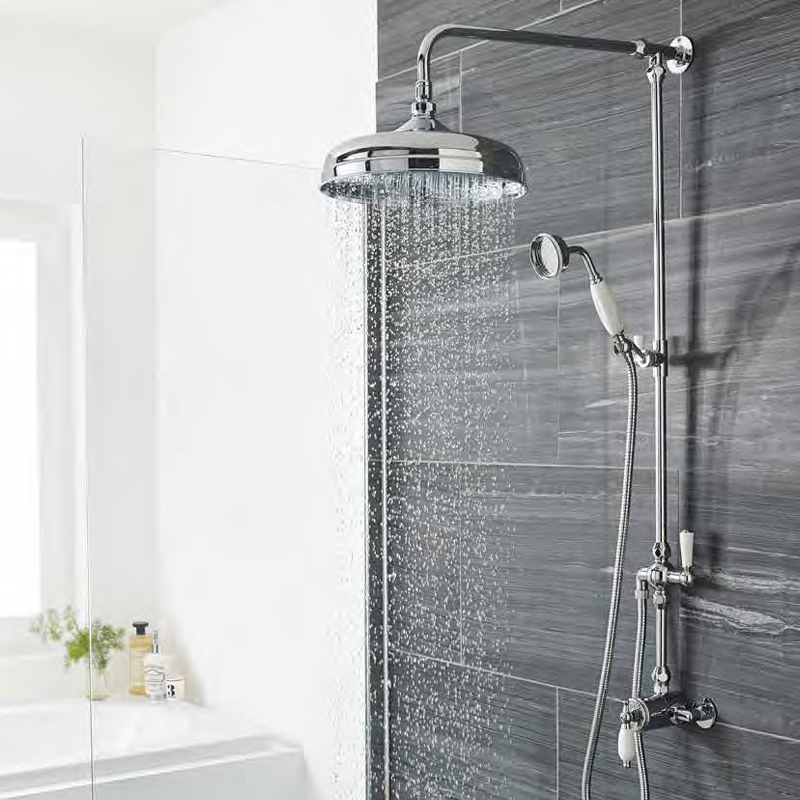 Ultra Traditional Exposed Thermostatic Sequential Shower Valve profile large image view 2