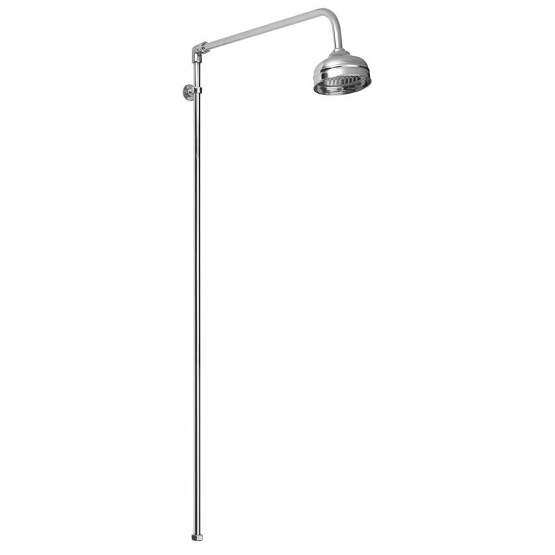 Ultra Traditional Shower Rigid Riser Kit with Swivel - Chrome Large Image