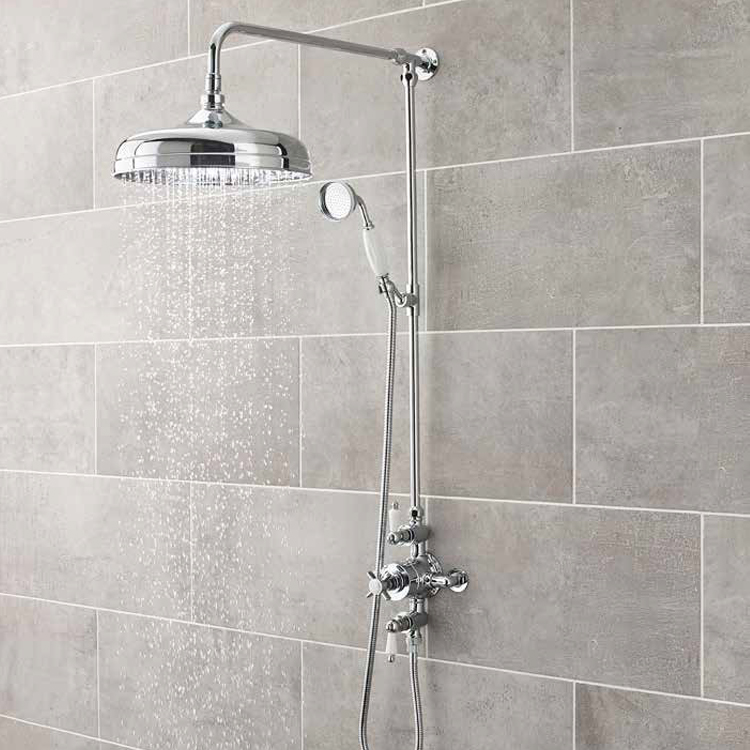 Ultra Traditional Triple Exposed Thermostatic Shower Valve - A3057E Profile Large Image