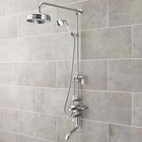 Ultra Traditional Triple Exposed Valve With Spout - Chrome - A3068