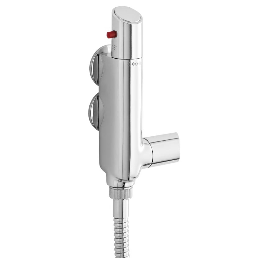 Ultra Vertical Minimalist Thermostatic Bar Shower Valve - VBS011 Large Image