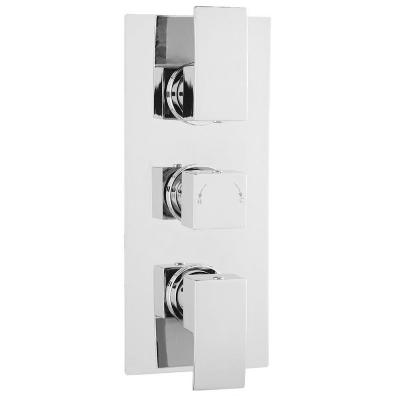 Ultra Vibe Concealed Thermostatic Triple Shower Valve - VIBV53 Large Image