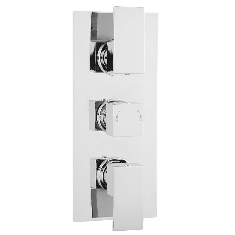 Ultra Vibe Concealed Thermostatic Triple Shower Valve with Built-in Diverter profile large image view 1