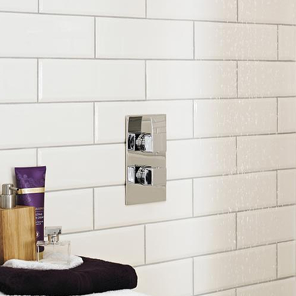 Ultra Vibe Concealed Thermostatic Twin Shower Valve - VIBV51 profile large image view 2