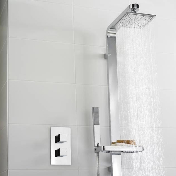 Ultra Volt Concealed Thermostatic Twin Shower Valve - CHAV51 profile large image view 2