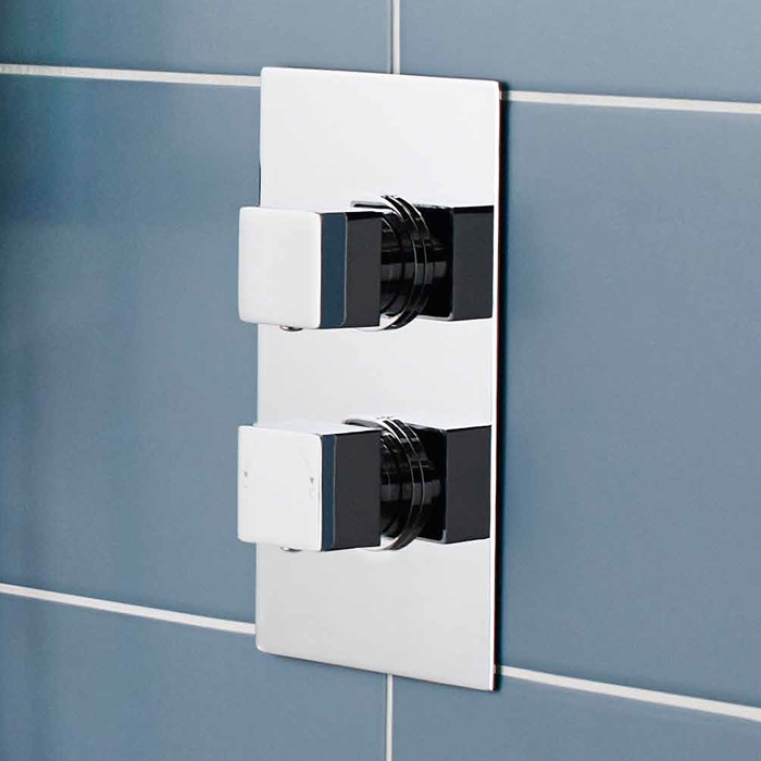 Ultra Volt Concealed Twin Shower Valve with Built-in Diverter - CHAV52 profile large image view 2