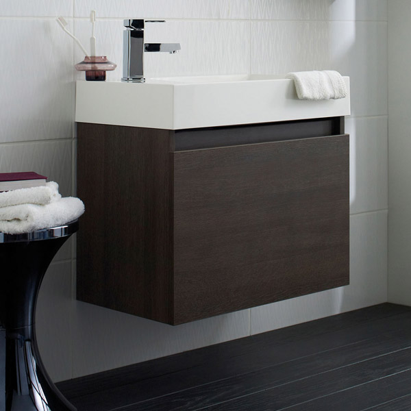 Ultra - Zone Oak Finish Cabinet & Basin with BTW Close Coupled Toilet profile large image view 2