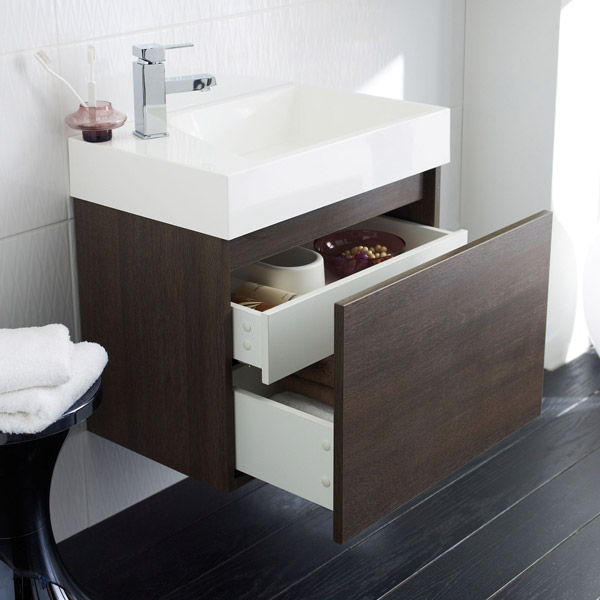 Ultra - Zone Oak Finish Cabinet & Basin with BTW Close Coupled Toilet profile large image view 3