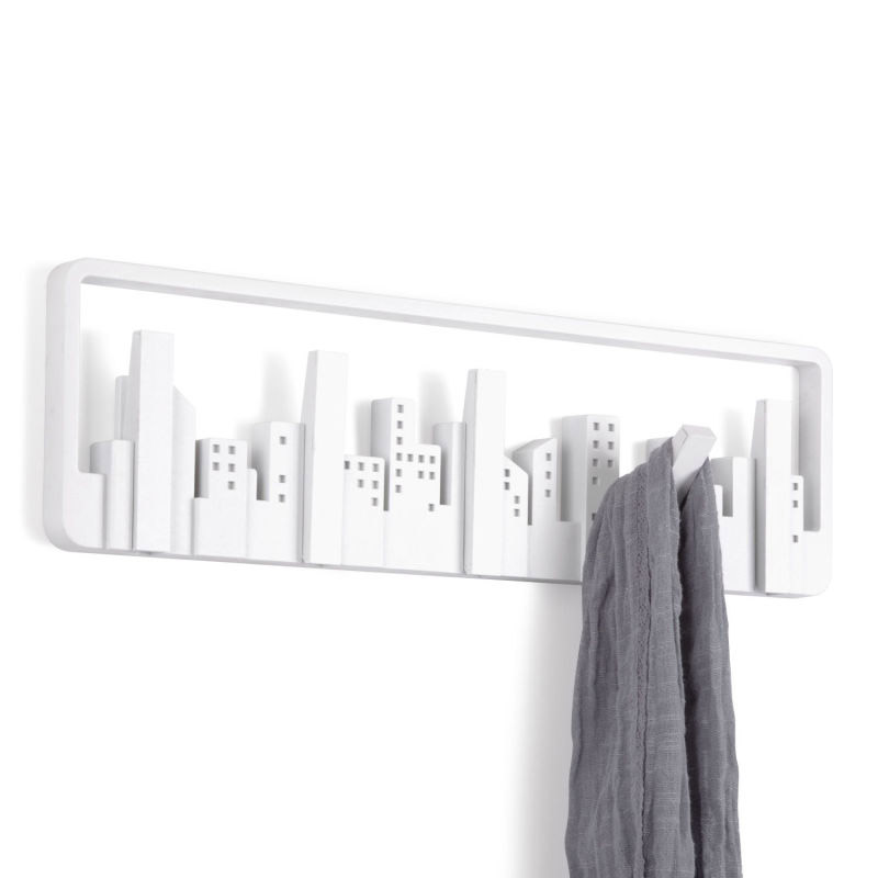 Umbra - Skyline Wall-Mount Multi-Hook - White - 318190-660 Large Image