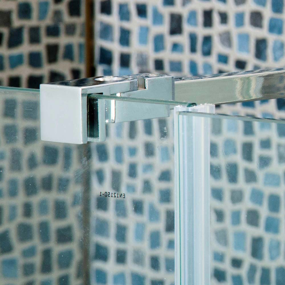 Universal Wetroom Screen Chrome Support Arm  Profile Large Image