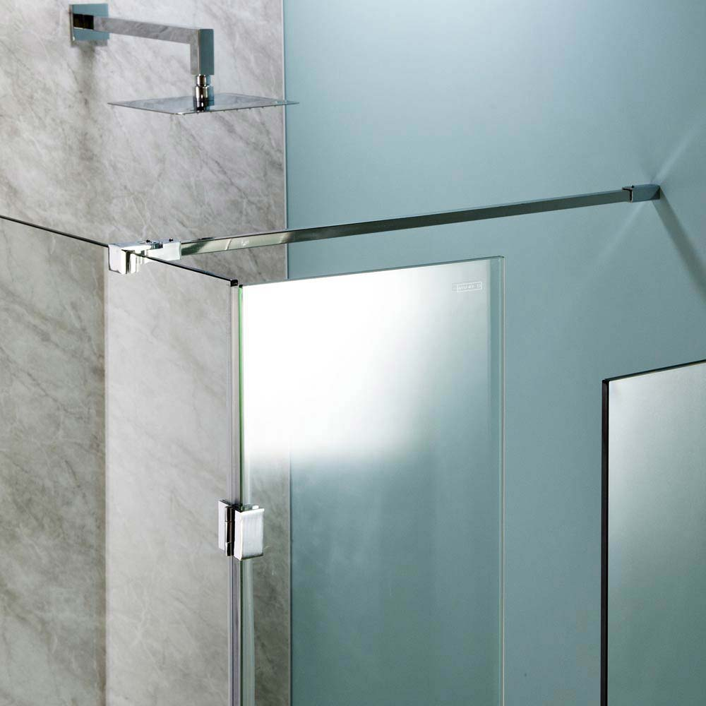 Universal Wetroom Screen Chrome Support Arm Large Image