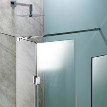 Universal Wetroom Screen Chrome Support Arm Medium Image