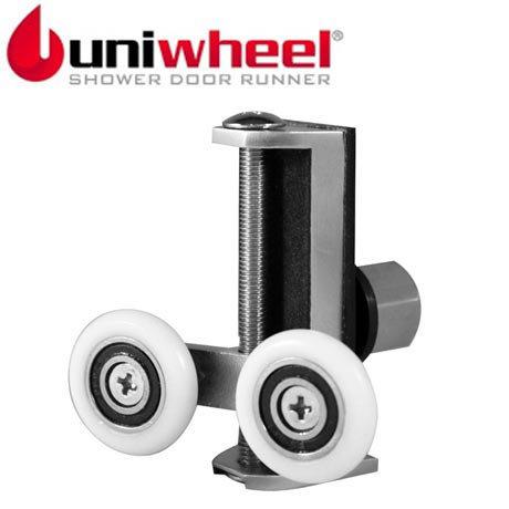 Uniwheel Universal Replacement Shower Door Runner - Set of 2