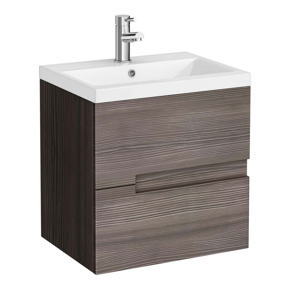 Urban Compact 500mm Wall Hung 2 Drawer Unit With Basin At
