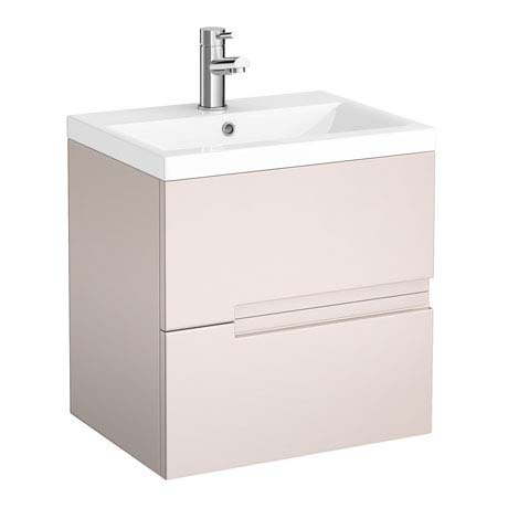 Urban Compact 500mm Wall Hung Vanity Unit - Cashmere