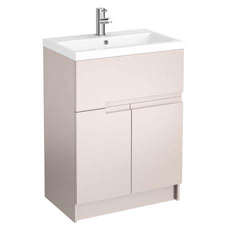 Urban Compact 600mm Floorstanding Vanity Unit - Cashmere