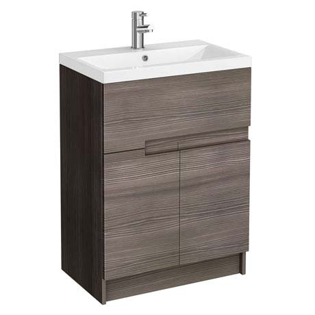 Urban Compact 600mm Floorstanding Vanity Unit - Grey Avola