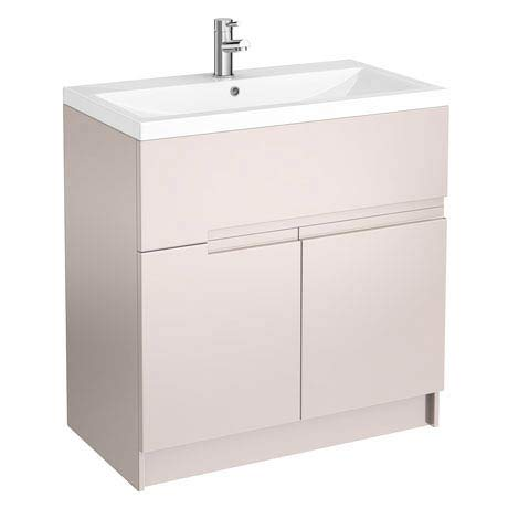 Urban Compact 800mm Floorstanding Vanity Unit - Cashmere