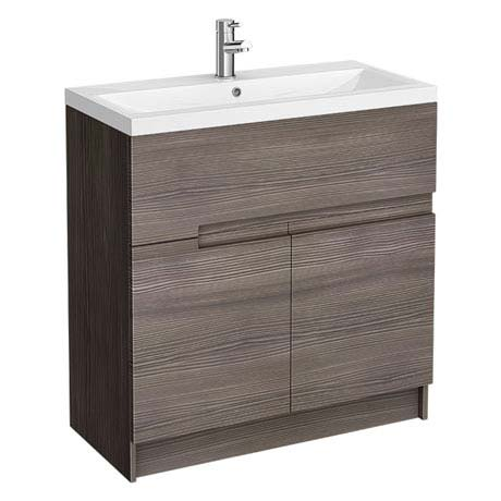 Urban Compact 800mm Floorstanding Vanity Unit - Grey Avola