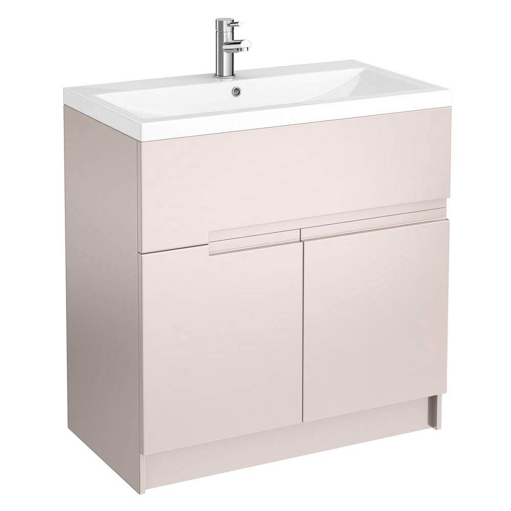 Urban Compact 800mm Floorstanding Vanity Unit - Cashmere Large Image
