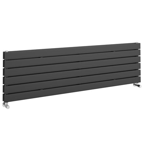 Urban Horizontal Radiator - Anthracite - Double Panel (1600mm Wide)