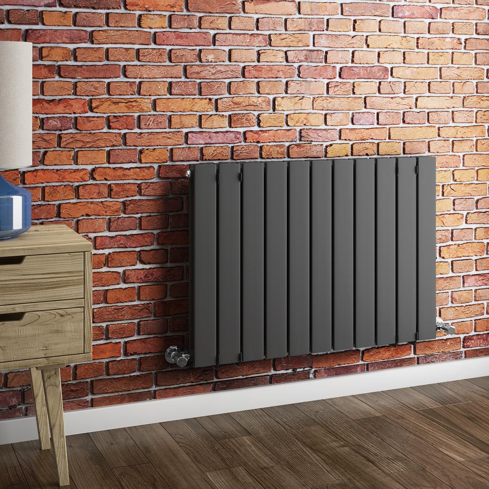 Urban Horizontal Radiator - Anthracite - Double Panel (600mm High) Feature Large Image