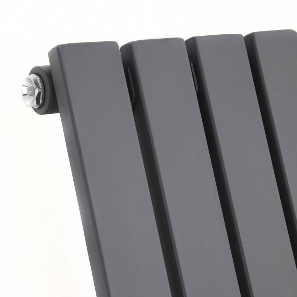Urban Horizontal Radiator - Anthracite - Single Panel (600mm High) Profile Large Image