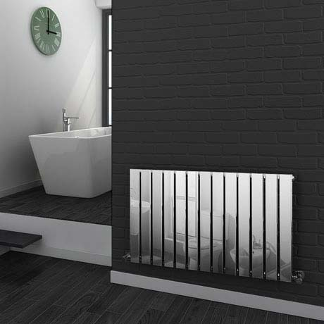 Urban Horizontal Radiator - Chrome - Single Panel (H600xW984mm)