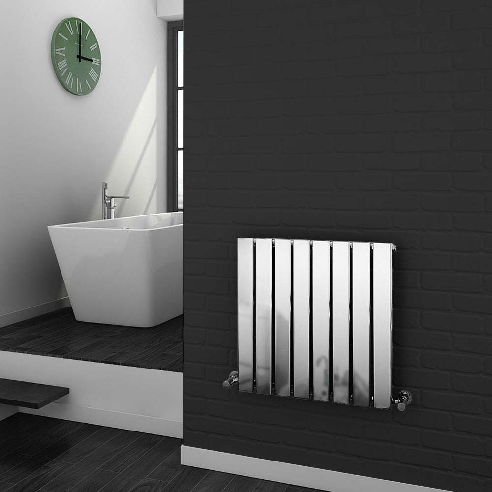 Urban Horizontal Radiator - Chrome - Single Panel (H600xW604mm) Large Image