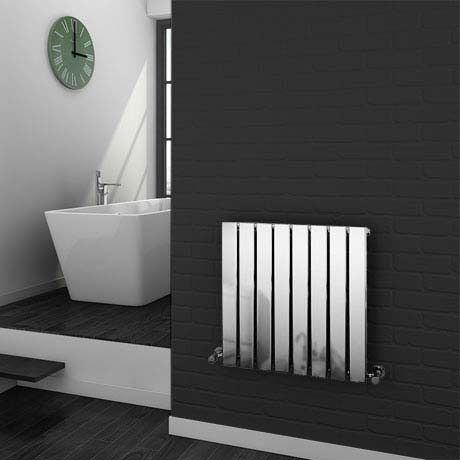 Urban Horizontal Radiator - Chrome - Single Panel (H600xW604mm)