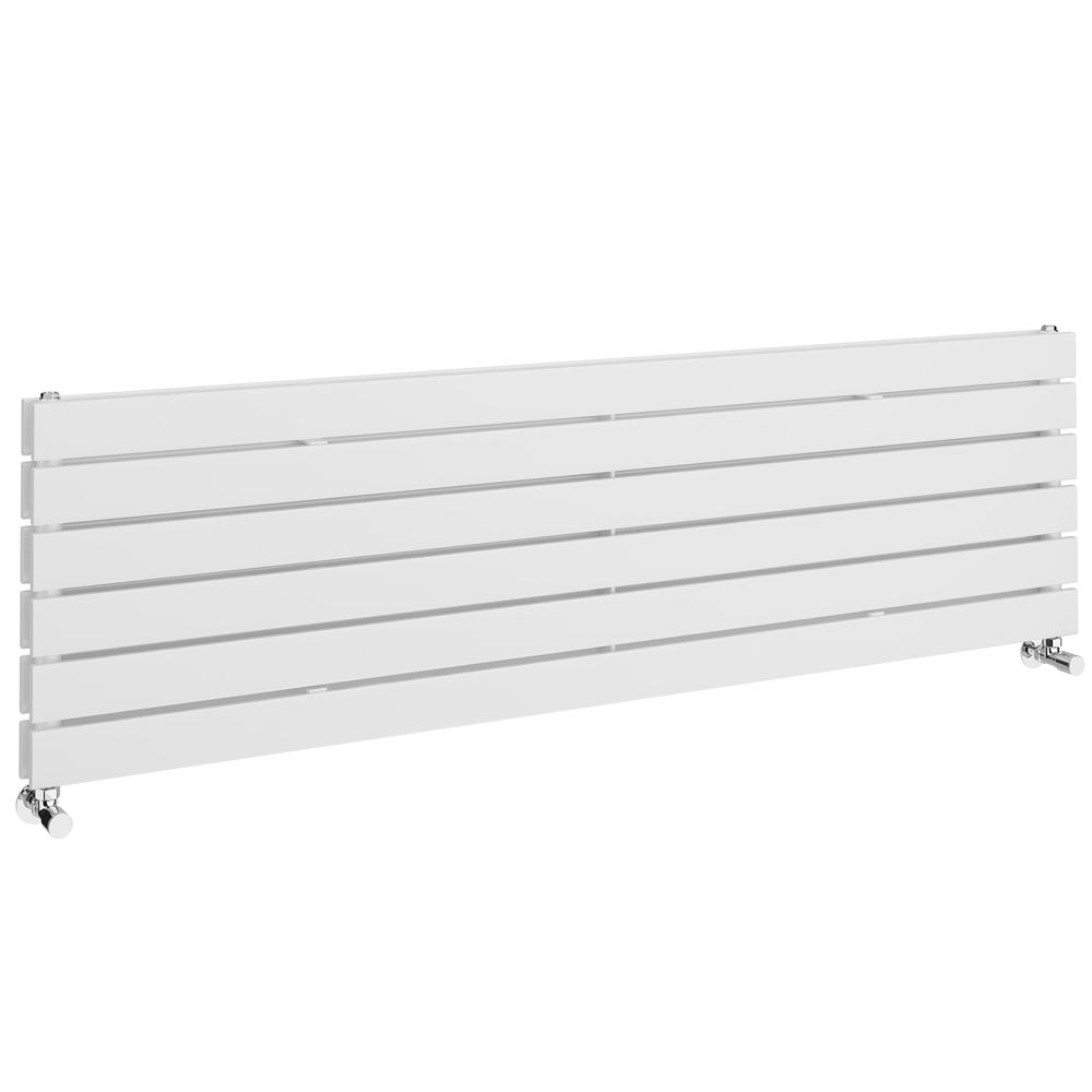 Urban Horizontal Radiator - White - Double Panel (1600mm Wide) profile large image view 1