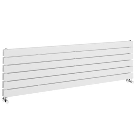 Urban Horizontal Radiator - White - Double Panel (1600mm Wide)