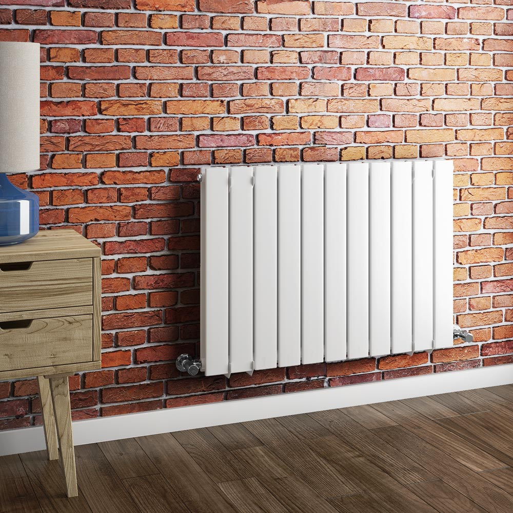Urban Horizontal Radiator - White - Double Panel (600mm High) Feature Large Image
