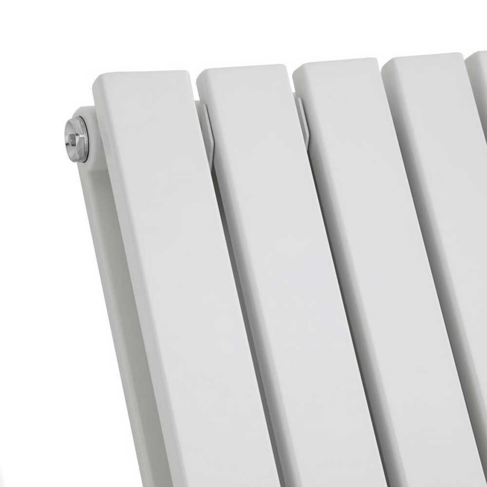 Urban Horizontal Radiator - White - Double Panel (600mm High) profile large image view 2