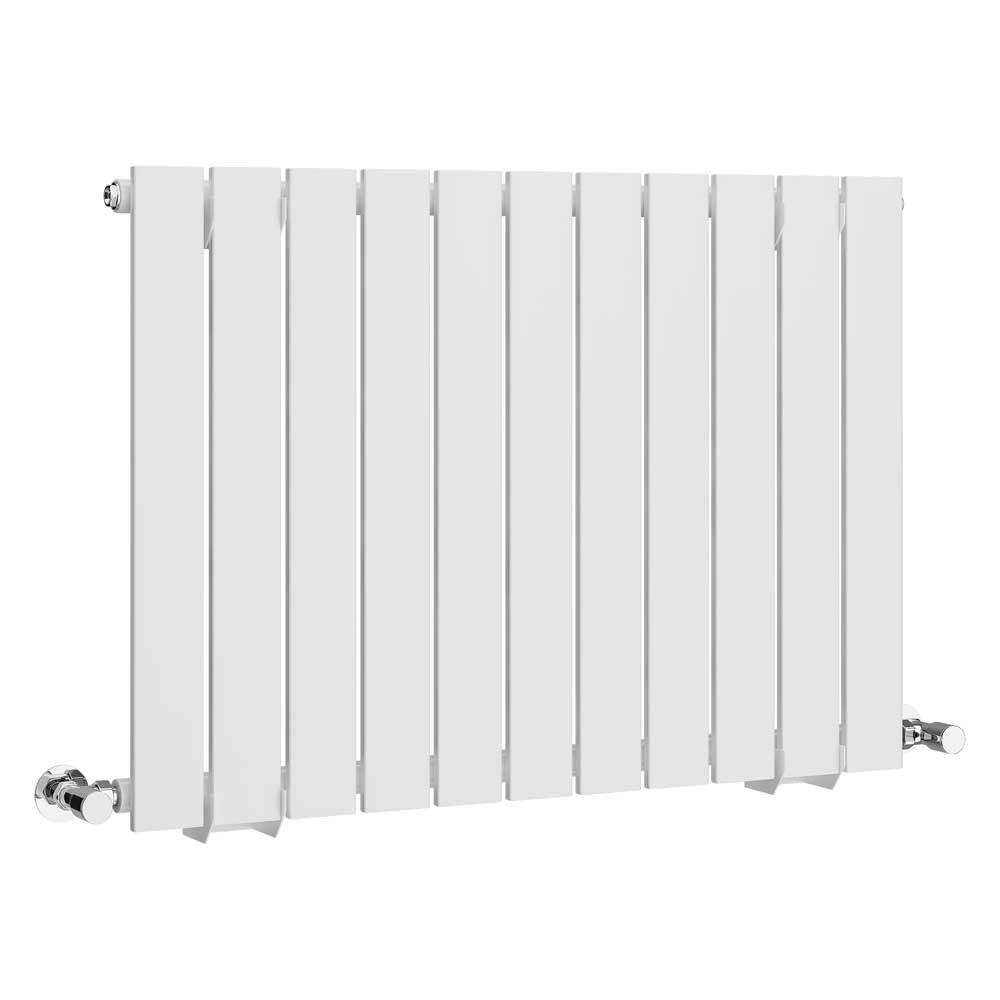 Urban Horizontal Radiator - White - Single Panel (600mm High) Large Image