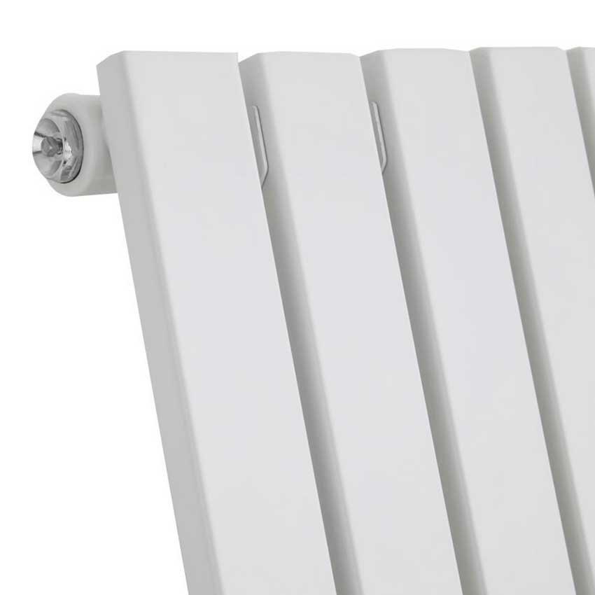 Urban Horizontal Radiator - White - Single Panel (600mm High) profile large image view 2