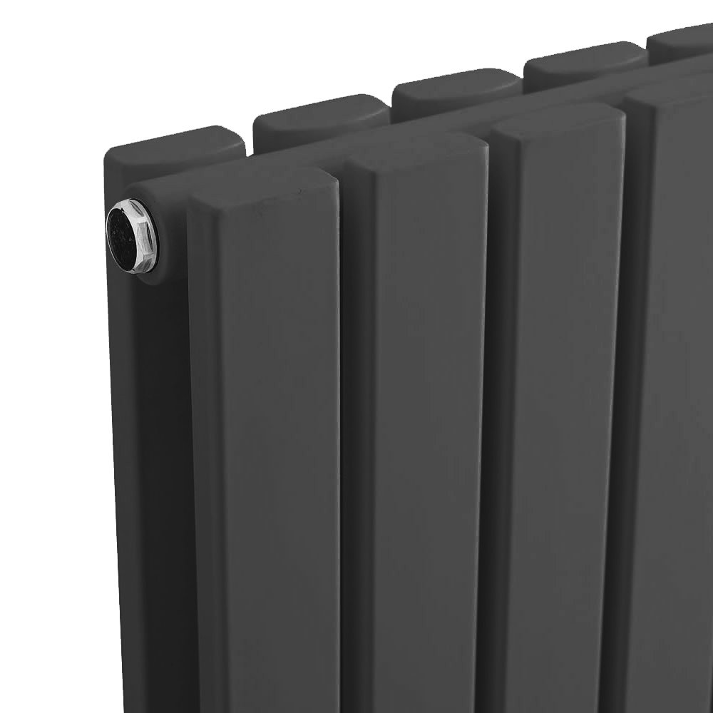 Urban Vertical Radiator - Anthracite - Double Panel (1600mm High) profile large image view 2