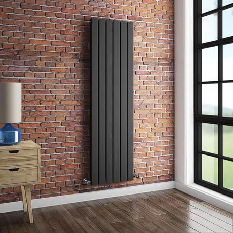 Urban Vertical Radiator - Anthracite - Double Panel - VFP010 | Choosing The Best Radiators To Buy