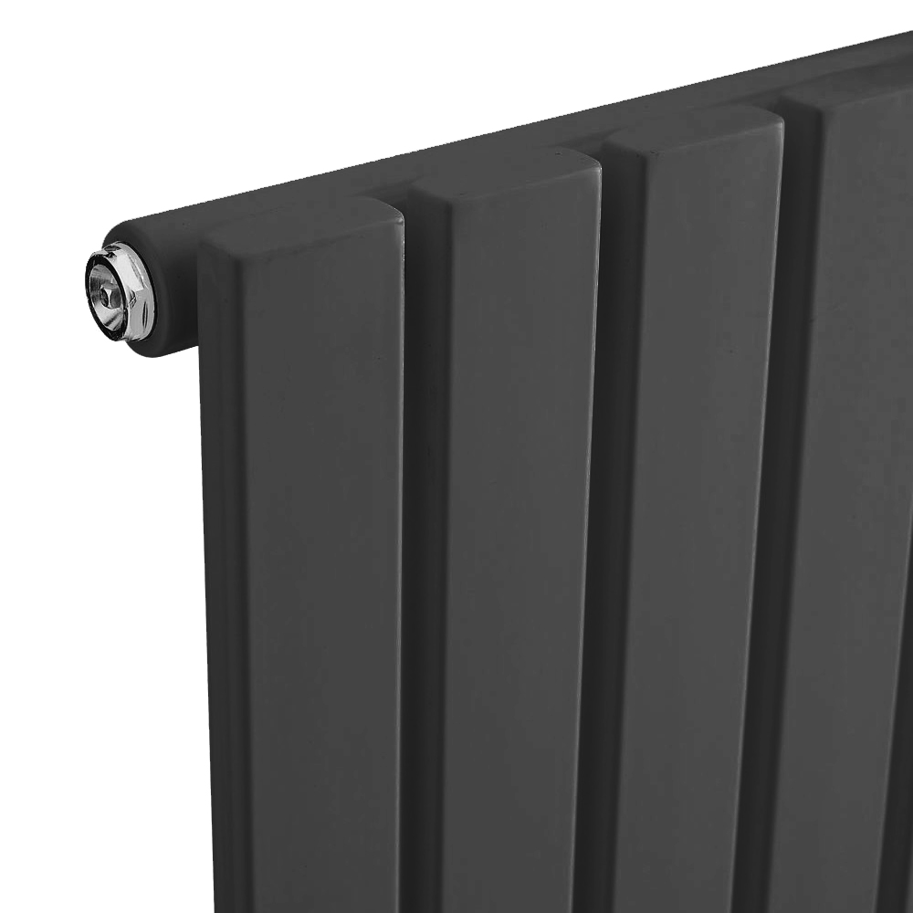 Urban Vertical Radiator - Anthracite - Single Panel (1600mm High) profile large image view 2