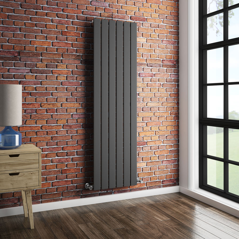 Urban Vertical Radiator - Anthracite - Single Panel (1600mm High) profile large image view 3